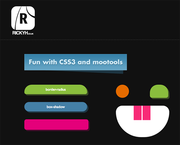 http://demo.rickyh.co.uk/fun-with-CSS3-and-mootools/