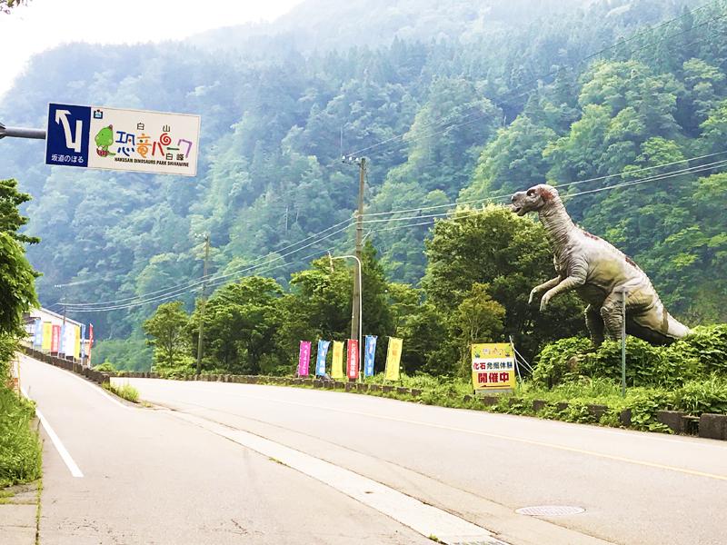 日本にあるティラノサウルスのモニュメント