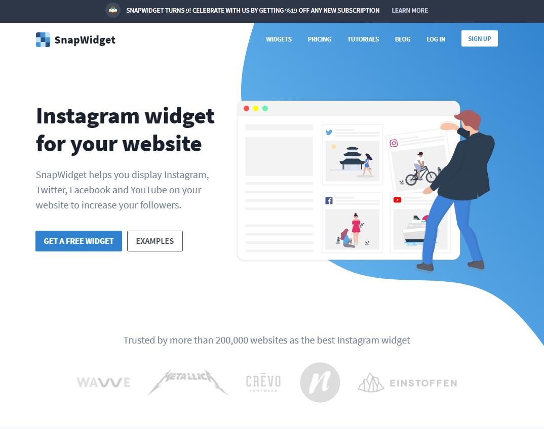 インスタウィジェットサービスSnapWidgetへ登録