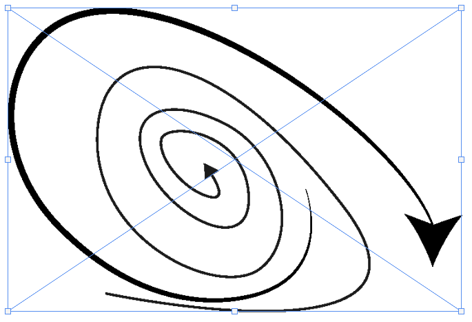 イラレなら矢印作成が簡単。フォトショへもコピペできます。