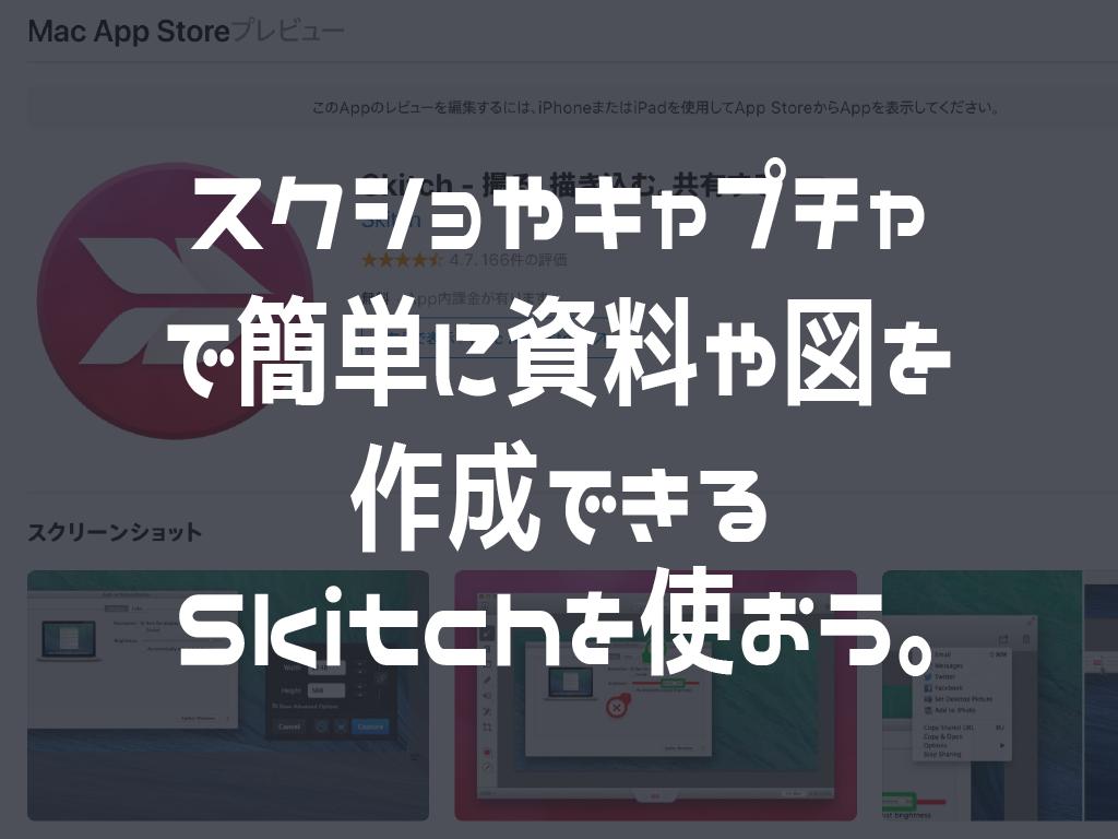 スクショやキャプチャで簡単な説明資料や図を作成。Skitchを使おう。