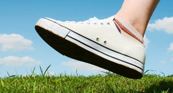 靴を変えてO脚を改善