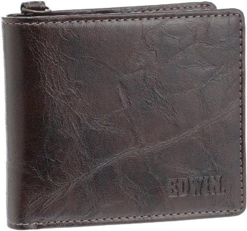 [エドウィン] レトロ合皮 小銭付き2折財布 12239720 (BROWN)