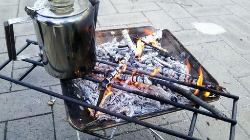 スノーピークの焚火台 熾火