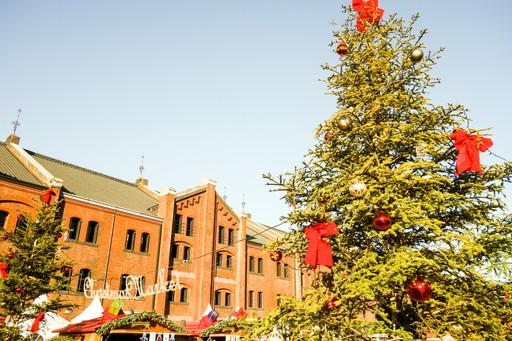 赤レンガ倉庫とクリスマスツリー2