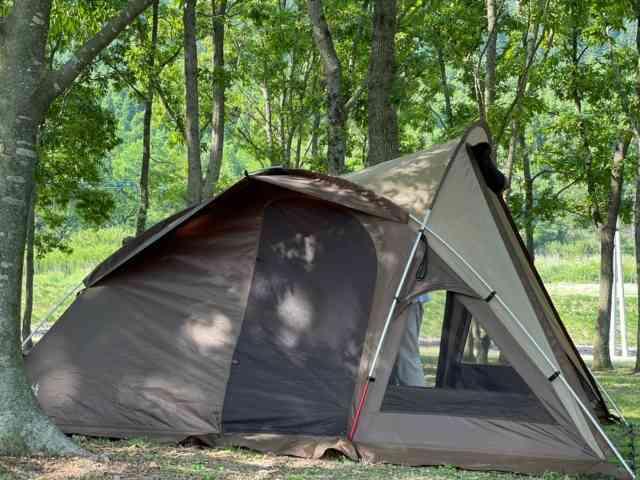 キャンプ テント設営