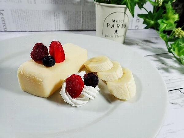 濃厚なチーズとブルーベリーの酸味が絶妙のバランス♡