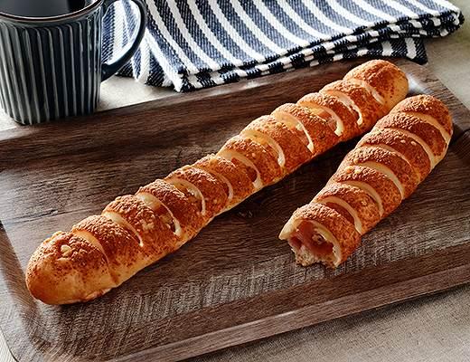 ちぎれるロングハムフランスパン