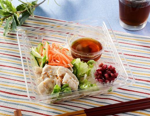 厳選おすすめ豚肉とカリカリ梅のサラダ