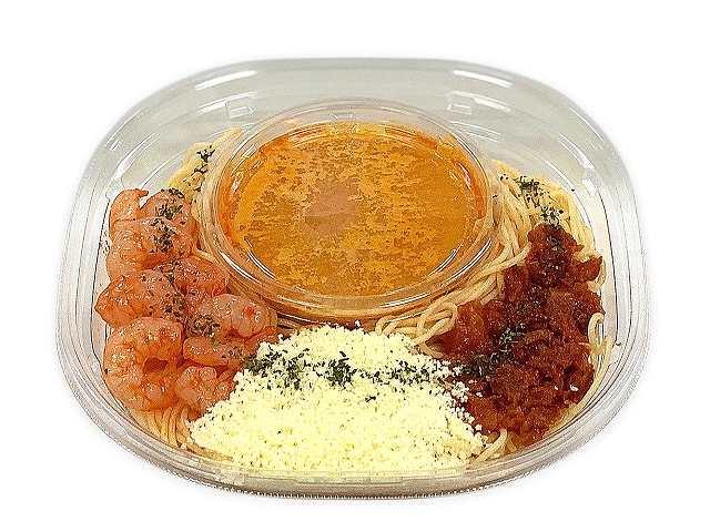 冷製パスタ海老のトマトクリーム