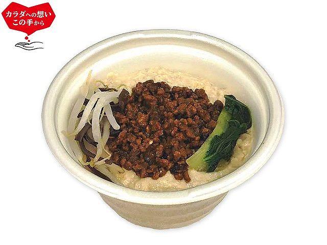 大豆ミートのごま豆乳担々スープ(春雨入り)