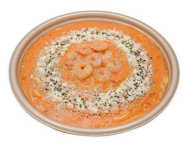 オマールソースの小海老トマトクリームパスタ