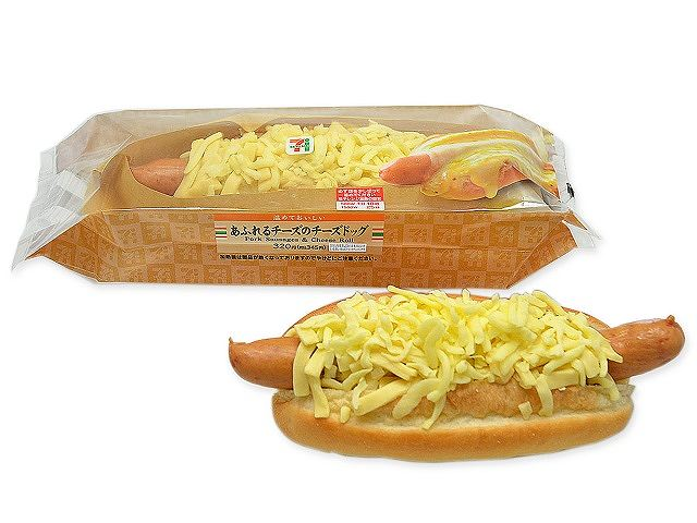 あふれるチーズのチーズドッグ