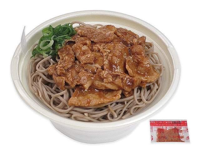 北海道産玄蕎麦使用甘辛豚肉そば(新そば)