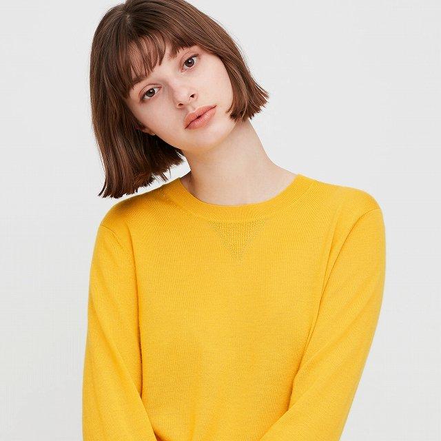 第4位:カシミヤクルーネックセーター
