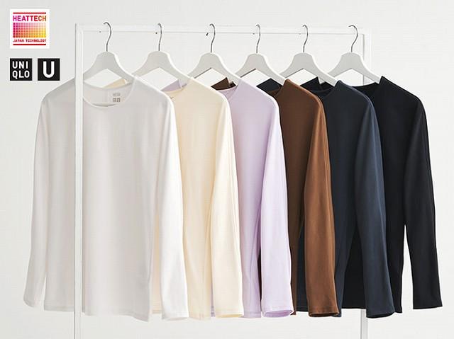 WOMEN ヒートテックコットンクルーネックTシャツ(長袖)