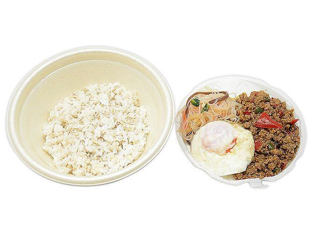 ガパオ風ライス(鶏ひき肉のバジル炒め)