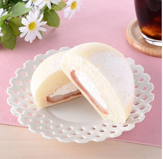 大福みたいなパン(あまおう苺あん&ホイップ)