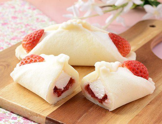 クルリン -つぶもっちくるりんケーキ(いちごミルク)-