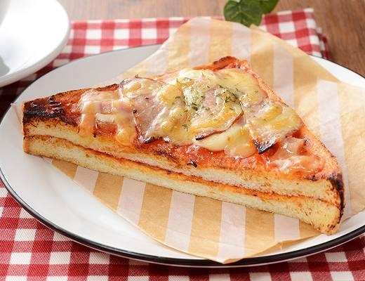 ベーコンとサラミの旨み!ピザトースト
