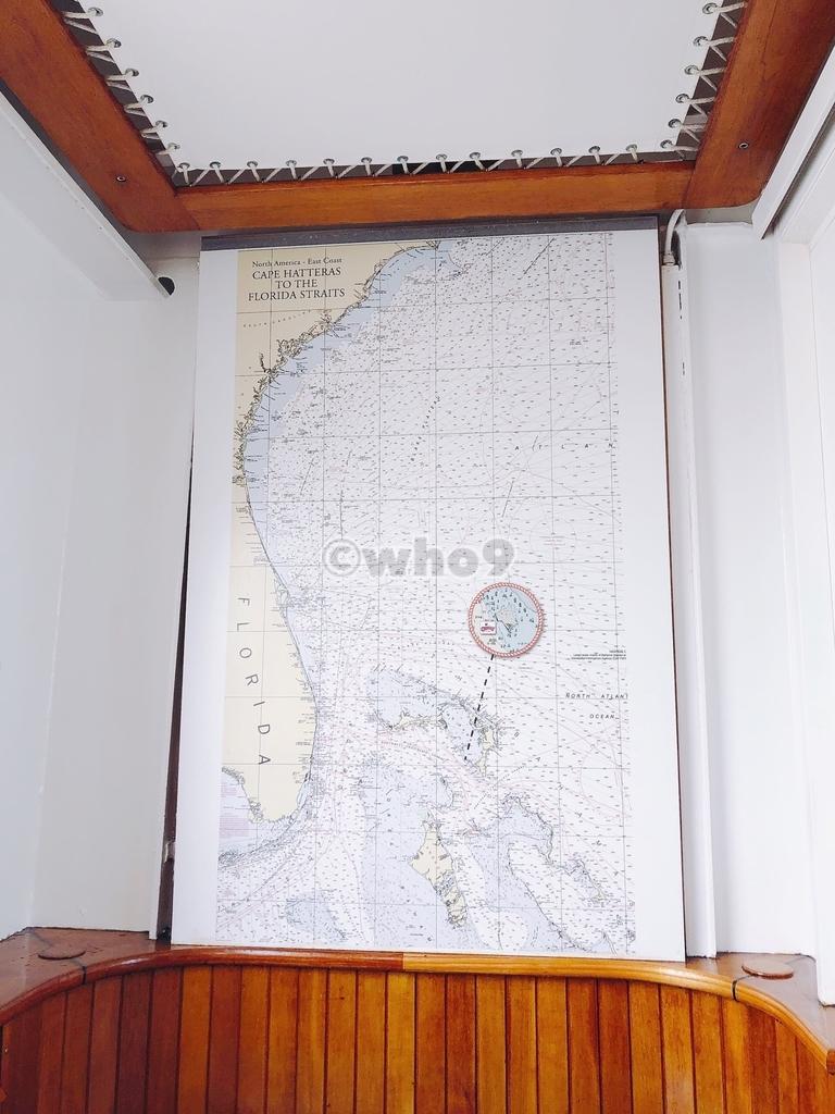 キャスタウェイ・ケイ付近の海図