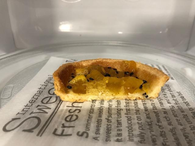 お芋さんはレンジで温めて食べるとおいし~!