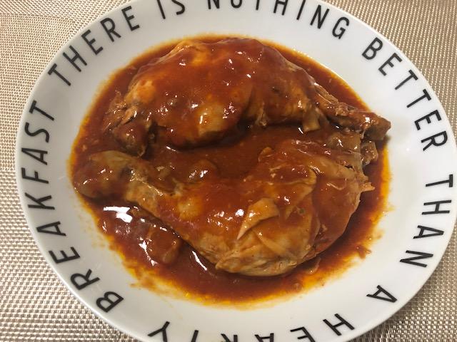トマトソースの超やわらか骨付き鶏もも肉