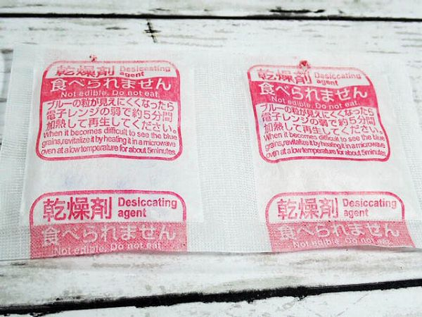 乾燥剤(シリカゲル)が便利