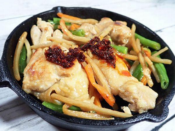 鶏ももの炒め物