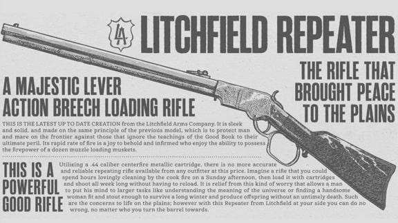 レッドデッドリデンプション2の武器画像