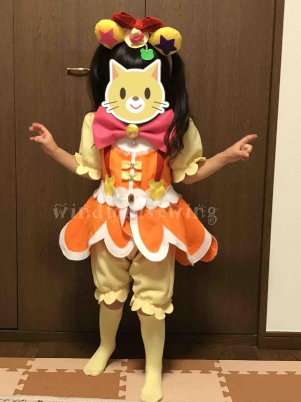 キュアモフルン風 コスプレ衣装 着用①
