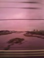 The River Tama in violet.
