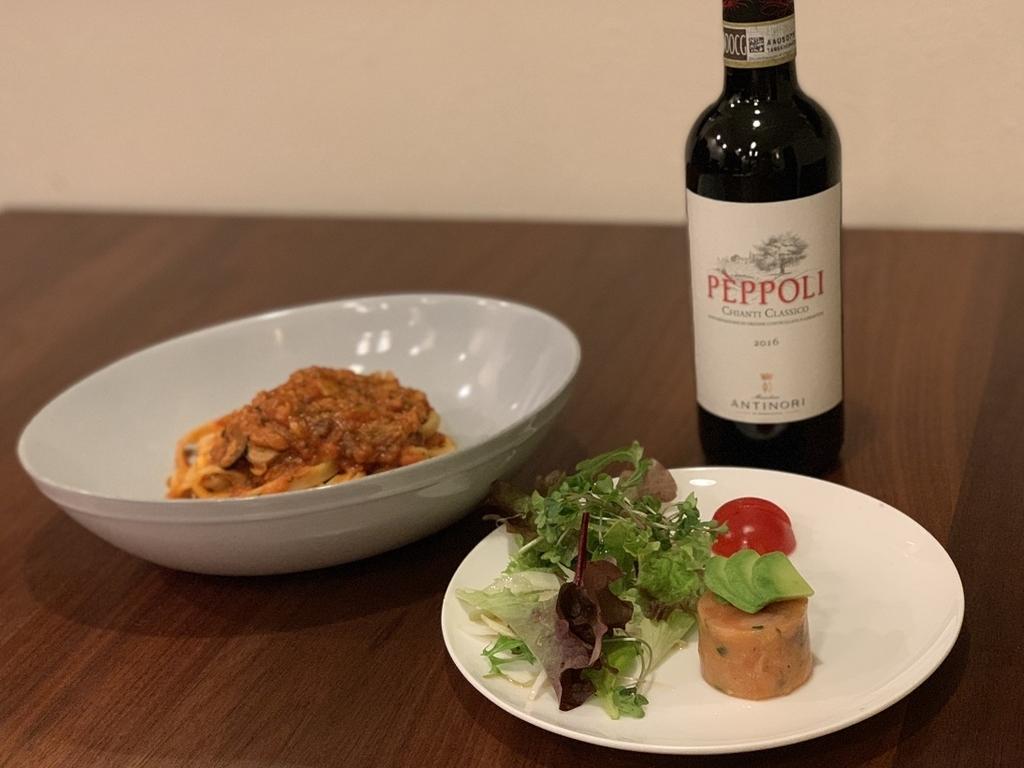 PEPPOLI(ペポリ)」キャンティ・クラシコと料理