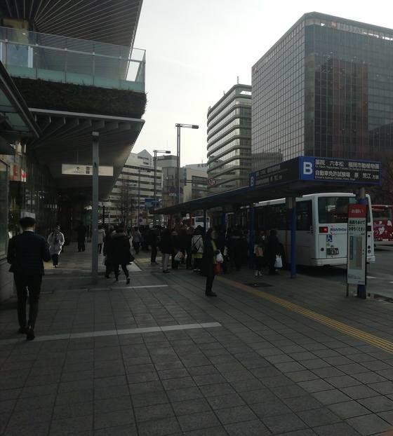 博多駅前B モトックスワールドワインフェスティバルの行き方 バス停