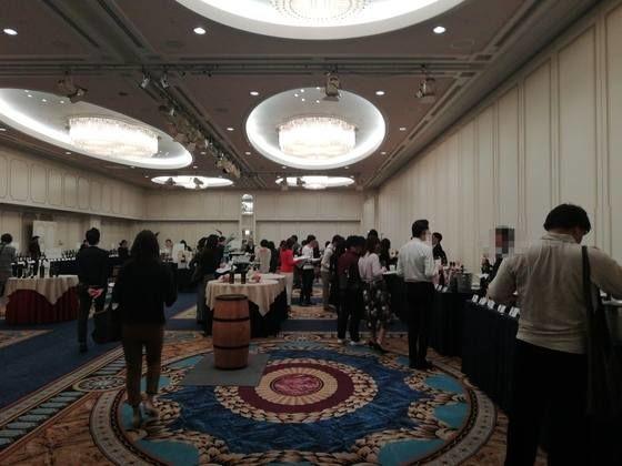 モトックスワールドワインフェスティバル 開場直後の様子