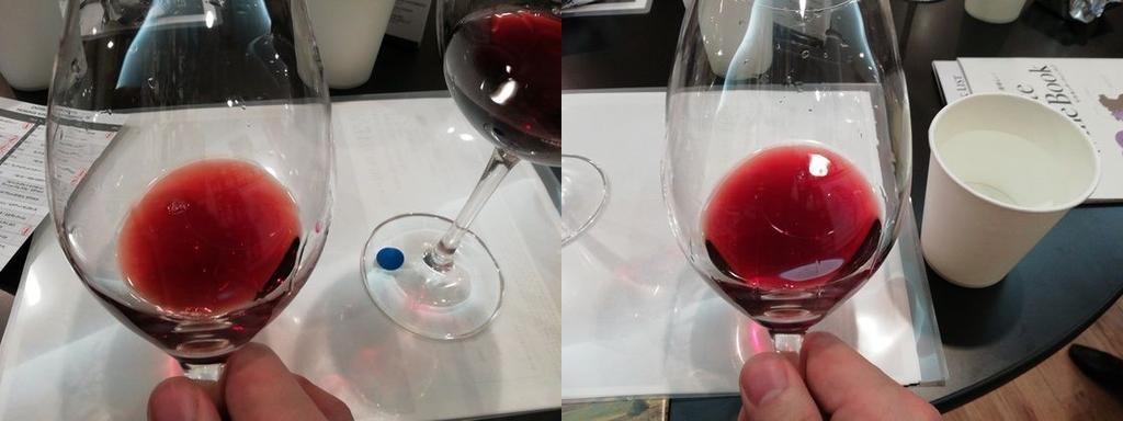 エノテカ ピエモンテワイン・エクスペリエンス バローロ色比較