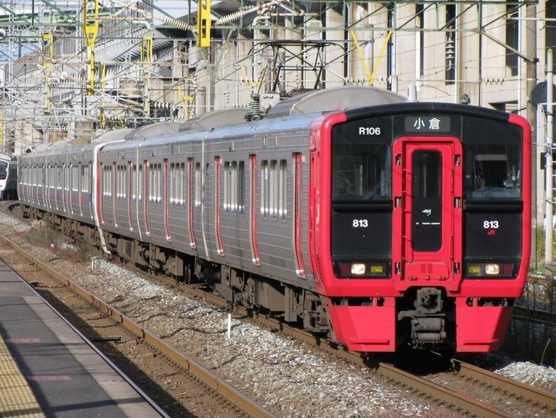 813系 R106編成 (南福岡電車区所属) - 海峡を越えた先には