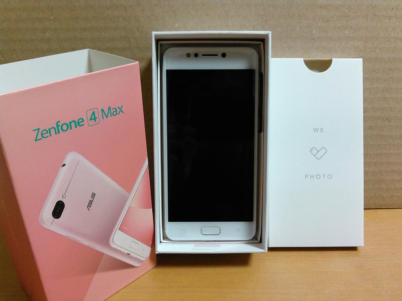ZenFone 4 Max (ZC520KL)(ローズピンク)化粧箱開封