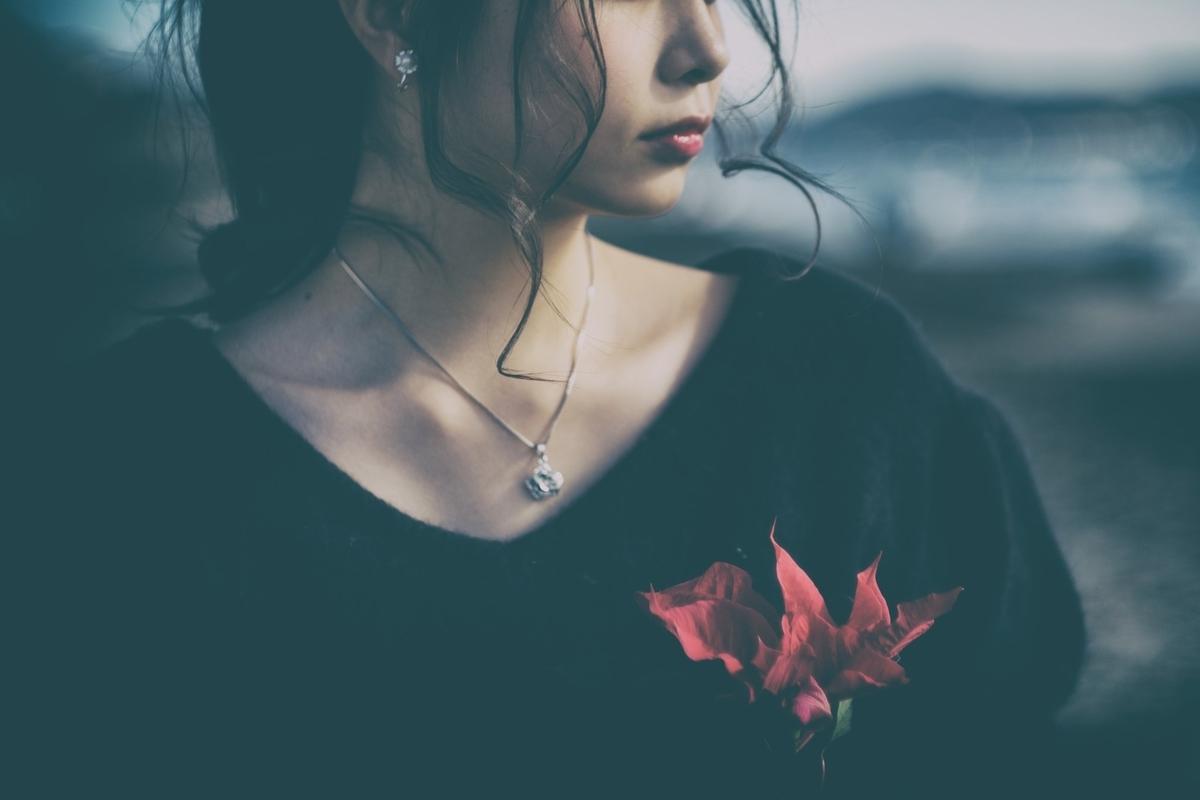 悲しみ気分が晴れないのフリー画像(写真)