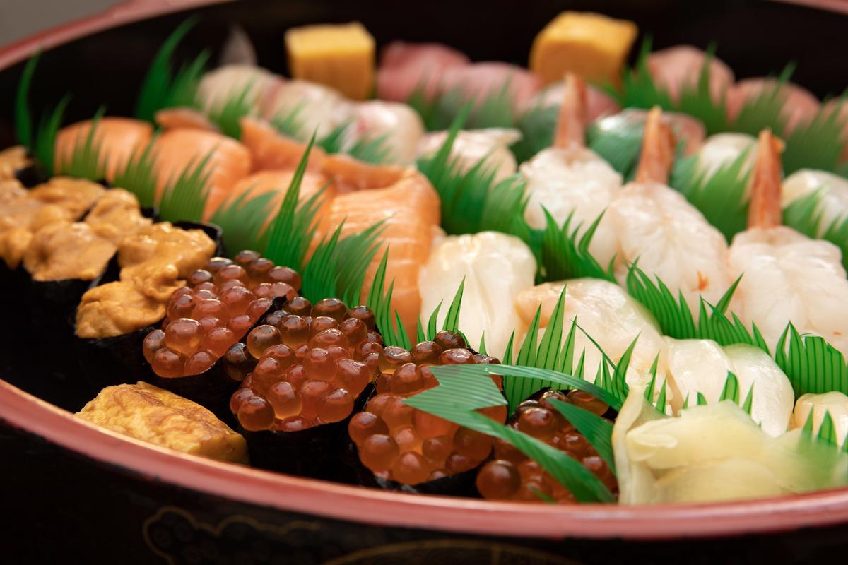 宅配寿司のフリー画像(写真)