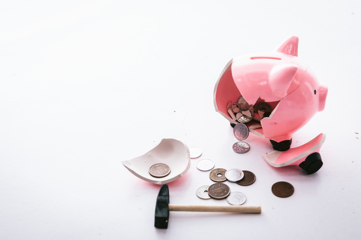 お金がない!のフリー画像(写真)