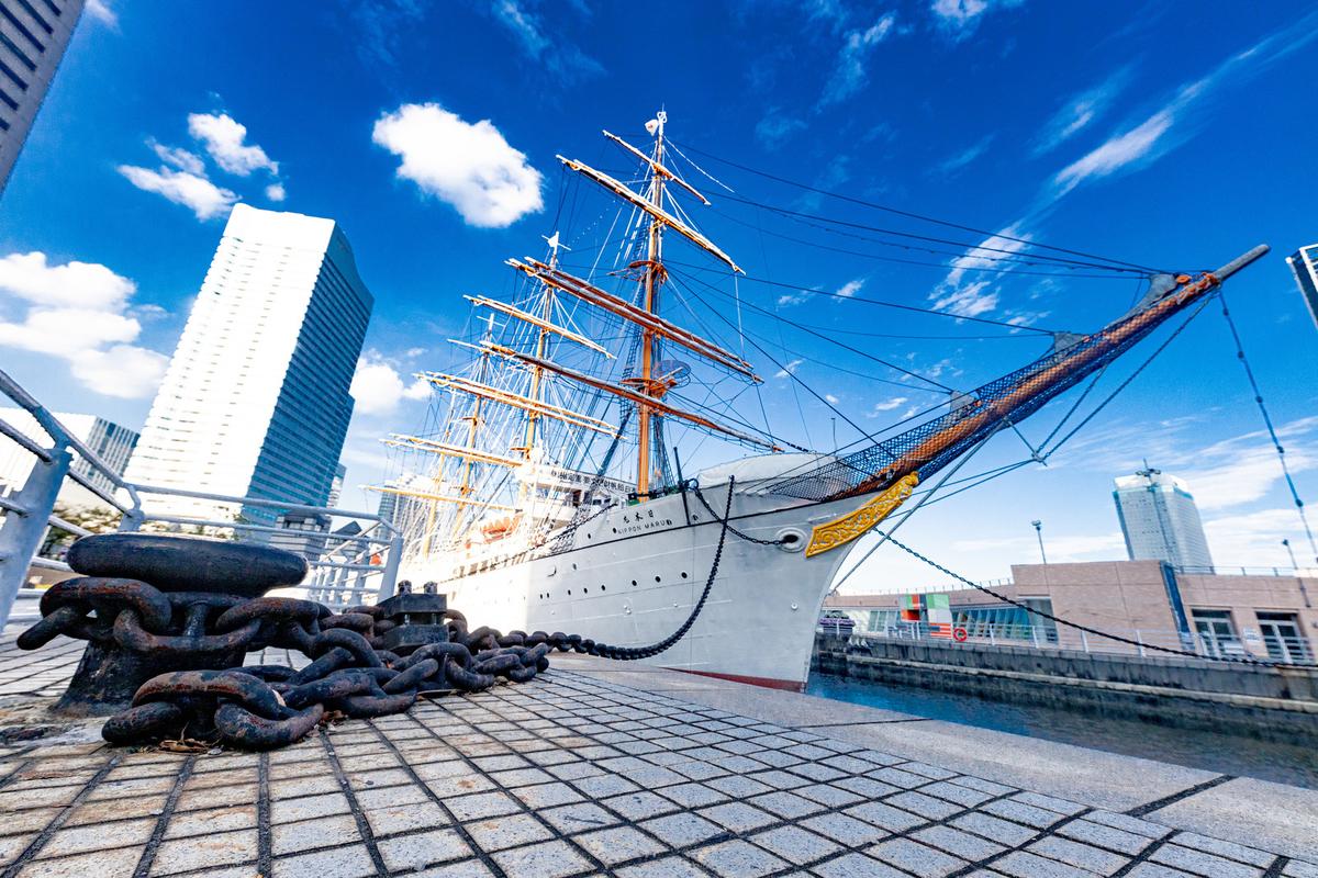 帆船日本丸(日本丸メモリアルパーク)のフリー画像(写真)