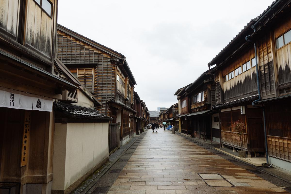 金沢「ひがし茶屋街」のフリー画像(写真)