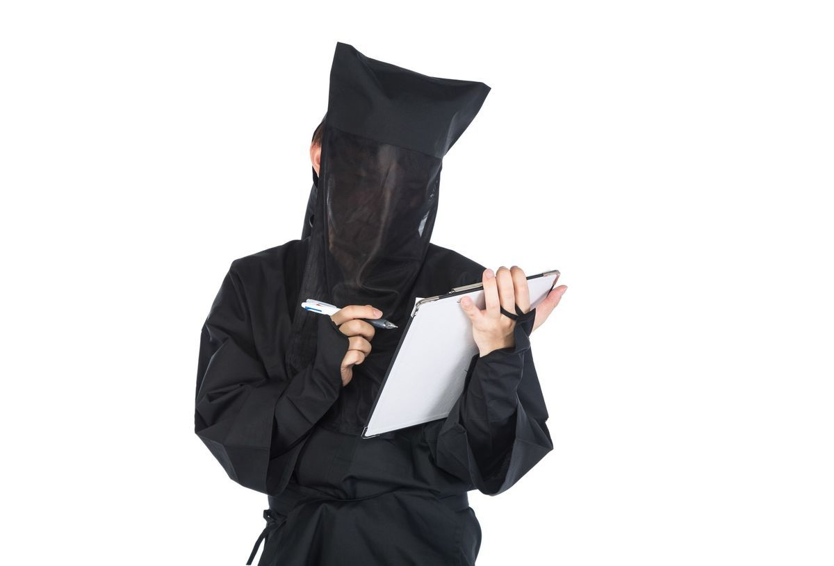 匿名のチェックシートの写真素材