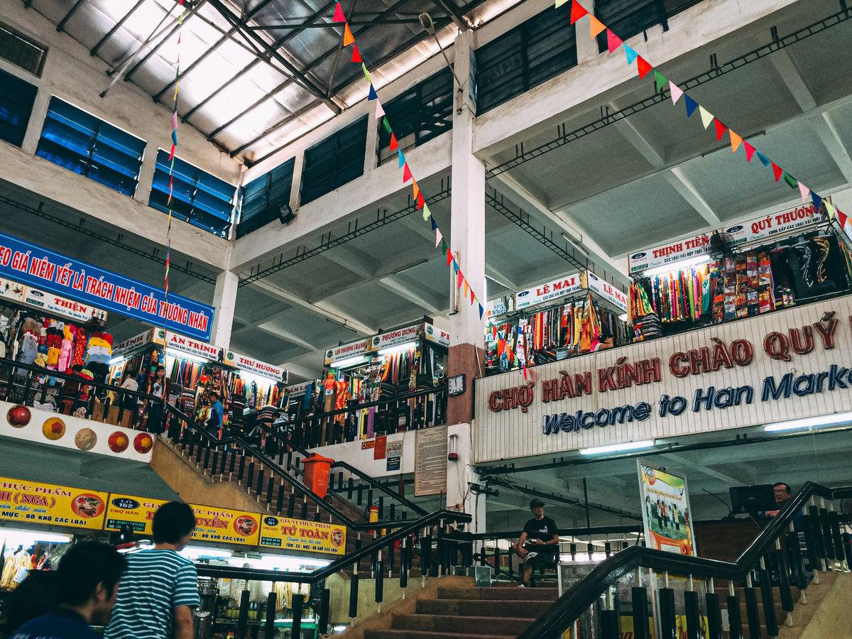 ベトナムのダナンにあるハン市場の写真素材