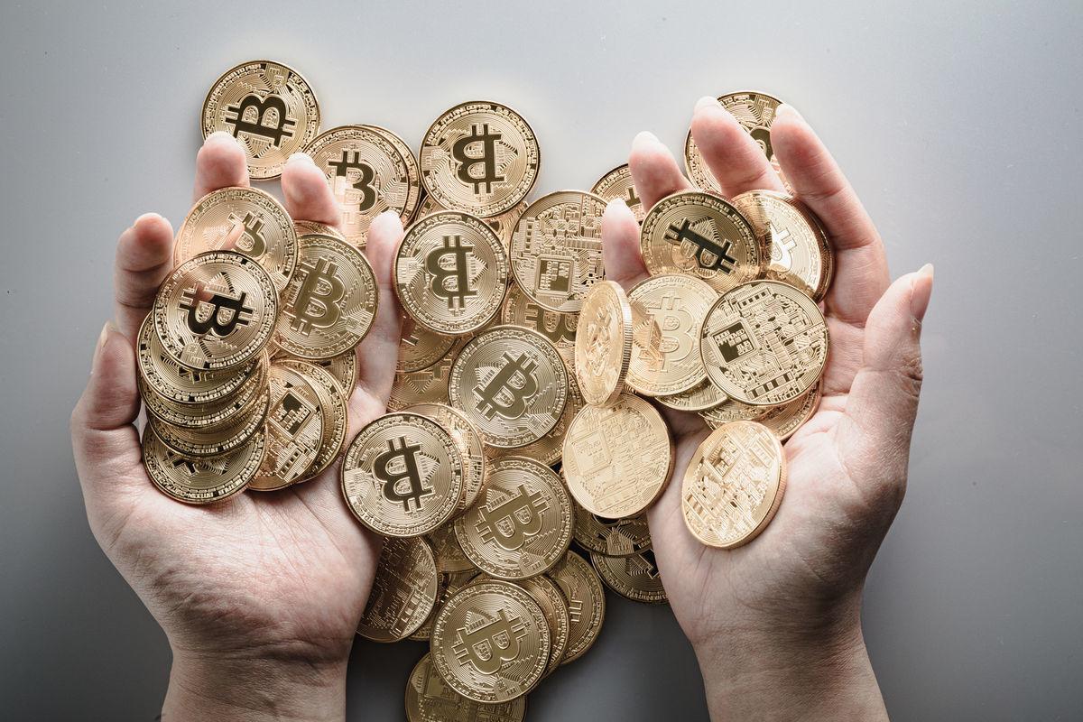ビットコイン長者の写真素材