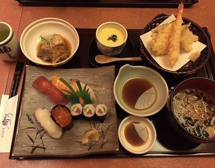 むつ市なんこう、天ぷらにぎり御膳