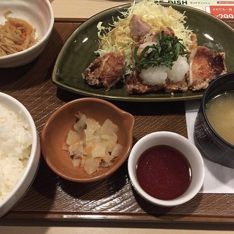 ガストむつ店、若鶏の竜田揚げ和膳
