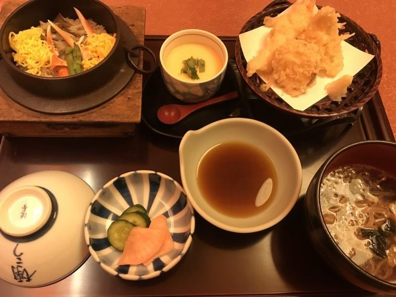 むつ市なんこう、釜めし天ぷら御膳