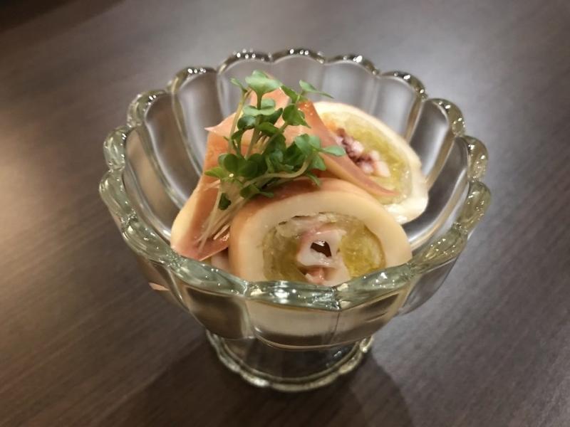 むつ市モリバターのイカ寿司